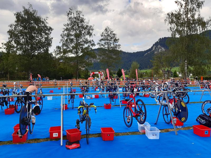 Thiersee Triathlon - Wechselzone.