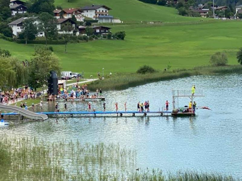 Thiersee Triathlon - Schwimmstart mit 1,5m & 10s Abstand