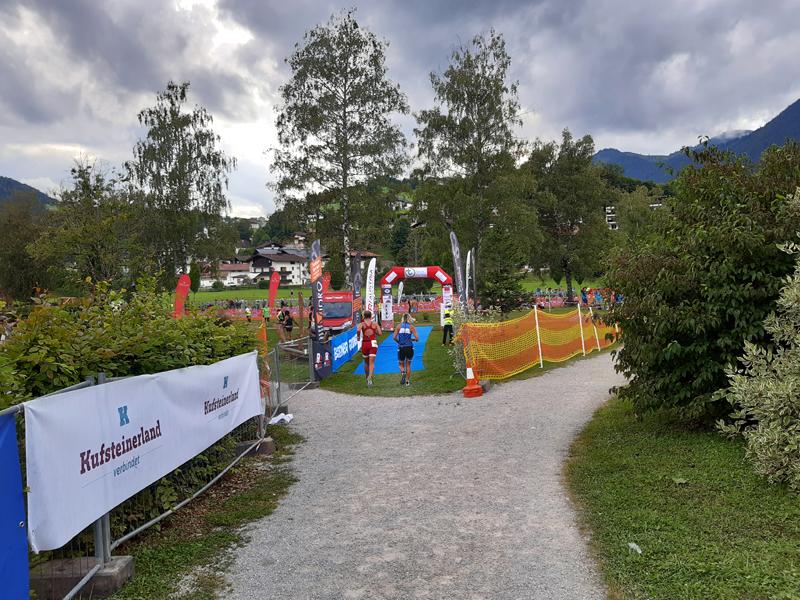Thiersee Triathlon - Zieleinlauf.
